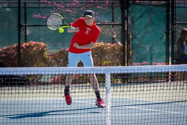 St. Martin's Tennis Action