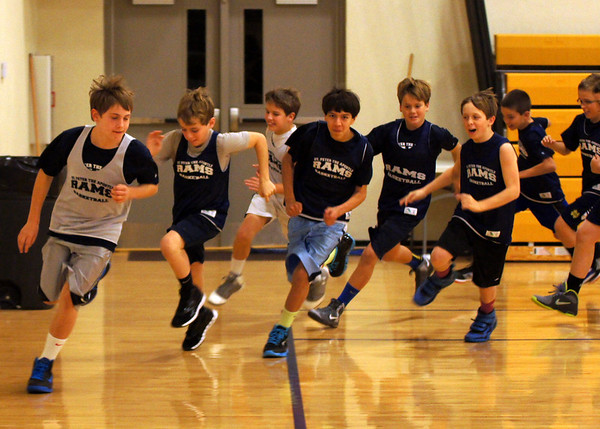 St Peter's Basketball Practice