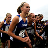 "Alexander Dawson seniors Lauren Nygren (front left) and  Alexa Sander (right) start the varsity race of the St. Vrain Cross Country Invitational at Lyons Middle-Senior High School in Lyons, Saturday, Sept. 12, 2009. The invitational brought teams from all over Colorado to compete.<br /> <br /> For more photos please visit  <a href=""http://www.dailycamera.com"">http://www.dailycamera.com</a><br /> <br />  DAILY CAMERA/Kasia Broussalian"