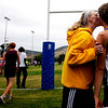 """Boulder High junior Delia LaJeunesse kisses her boyfriend Zack Fishburn after he finished the varsity race of the St. Vrain Cross Country Invitational at Lyons Middle-Senior High School in Lyons, Saturday, Sept. 12, 2009. The invitational brought teams from all over Colorado to compete.<br /> <br /> For more photos please visit  <a href=""""http://www.dailycamera.com"""">http://www.dailycamera.com</a><br /> <br />  DAILY CAMERA/Kasia Broussalian"""