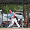 Effingham (St. Anthony) third baseman Will Hoene hits the ball during a baseball game against North Clay in the Class 1A Sectional 6 Regional Finals on Monday, July 7, 2021, at Evergreen Hollow Park, in Effingham, Illinois. (Alex Wallner/Effingham Daily News)