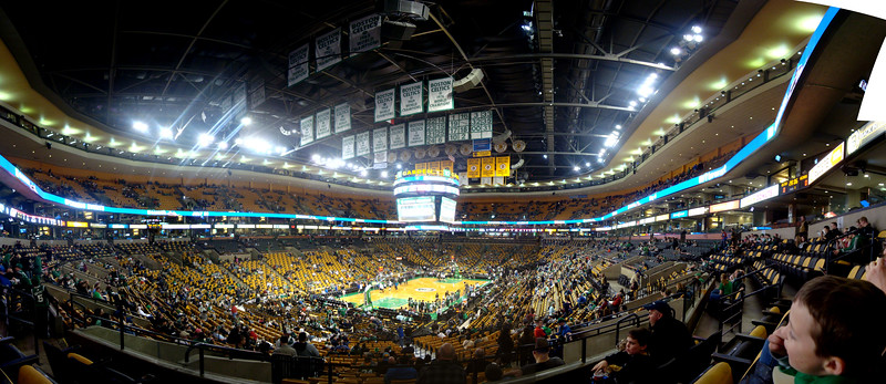 TD Garden Panoramic,  5 across, 2 tall.  Zach in lower right.