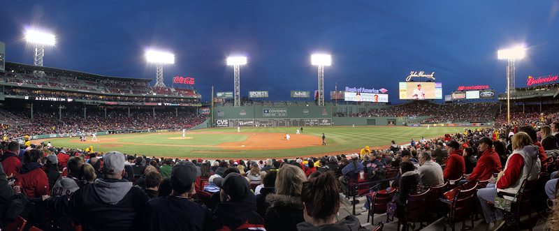 Panoramic from our seats.  6 shots stitched.