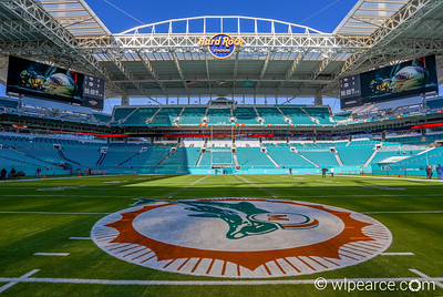 Hard Rock Stadium.  Miami Dolphins.