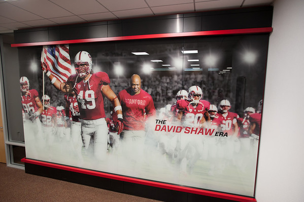 """""""The David Shaw Era"""" - on the wall in the waiting area"""