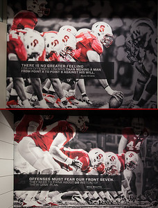 Zoom in so you can read these quotes.  They are badass AND a testment to the Goon Squad Coach Shaw has assembled on his D and O Lines