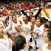 Santa Fe Indian School's girls basketball team beats West Las Vegas, 56-50, to win the state championship  title at the Pit in Albuquerque, N.M. on Mar. 12, 2010. <br /> Natalie Guillén/The New Mexican
