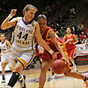 Kirtland Central's girls basketball team beats Española, 52-47, during the semifinals of state basketball play at the Santa Ana Star Center in Albuquerque, N.M. on Mar. 11, 2010. <br /> Natalie Guillén/The New Mexican