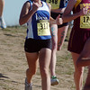Lyons High's Melissa Roberts runs down a hill during the girls 3A race of   the state cross country meet at Fossil Ridge High School in Ft. Collins on Saturday.<br /> <br /> November 7, 2009<br /> Staff photo/David R. Jennings
