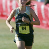 Nederland's Kat Robinson approaches the finish line for the girls 2A race at the state cross country meet at Fossil Ridge High School in Ft. Collins on Saturday.<br /> <br /> November 7, 2009<br /> Staff photo/David R. Jennings