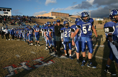 St. Michael's Horseman played Hot Springs at Brother Abdon Field on Saturday, November 14, 2009.  Horseman won 52-21. They now advance to the AAA quarterfinals in Raton. Photos by Jane Phillips/The New Mexican