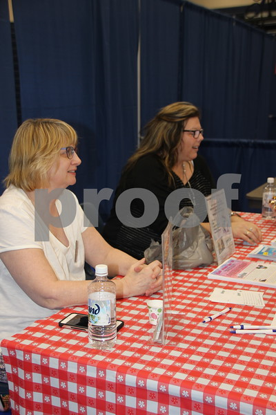 On Thursday, April 14, 2016, Taste Of Home Cooking School came to the Iowa Central Community College campus in Fort Dodge. There was something for everyone to enjoy. The evening also included a VIP dinner prepared by the Iowa Central Community College Culinary Arts students. Pictured left to right is: Kellie Guderian and Michelle Reed from Northland Travel, one of the vendors at the event.