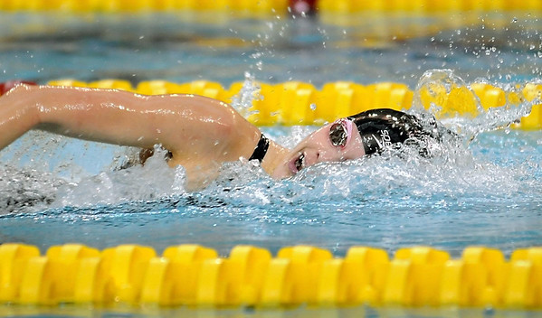Pat Christman<br /> Mankato West's Chantal Nack swims during the 200-yard freestyle finals at the State Class A swimming and diving meet Wednesday at the University of Minnesota Aquatic Center. Nack won the event.