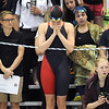 Pat Christman<br /> Mankato West's Danielle Nack takes a moment before her sister Chantal competes in the 200-yard freestyle finals during the State Class A swimming and diving meet Wednesday at the University of Minnesota Aquatic Center.