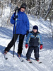 Stella, three years old, with Mom at Parc de la Mauricie.<br /> January, 2006