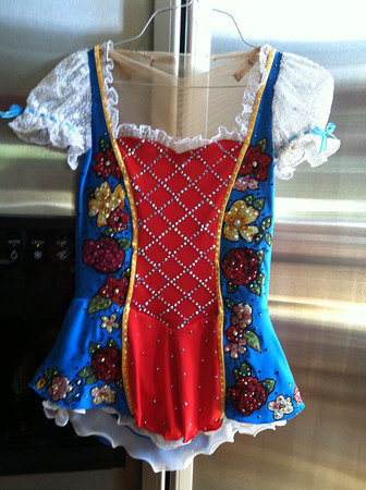 (Special to the Record-Eagle) Kingsley resident Stephanie Miller's dress designs will be worn by skaters from Australia, Azerbaijan, Canada, China, France, Italy, Japan, Russia and the U.S. during the 2014 Winter Olympics' Figure Skating Pairs competition.
