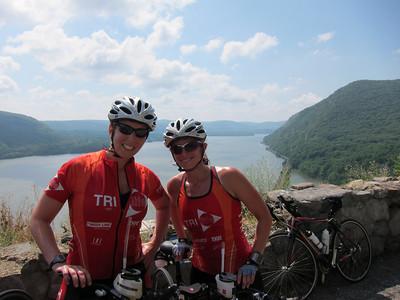 Amy, Sarah contemplating getting a tandem triathlon bike :-)