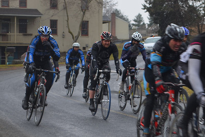 Dean and Paul tucked in the peloton