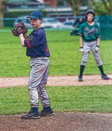 Stylized Baseball Player
