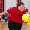 June 1, 2013.  Special Olympics NC Summer Games, Volleyball Competition, Carmichael Gymnasium, NC State University, Raleigh, NC.<br /> <br /> © Jamie Kellner 2013. All rights reserved.