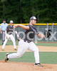 Corinth starting pitcher Sam Berman (34) delivers a 1st inning pitch. Photo by Dean Strickland OD.