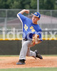 East Wake pitcher Zach Toney bears down in the 4th inning against Corinth Holders. Photo by Dean Strickland OD.