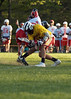 Steve Whitman powers his way into opposing face-off middie.