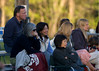 As the sun began to fall the crowd  bundled up and waited tensely for the Summit response to West Essex.
