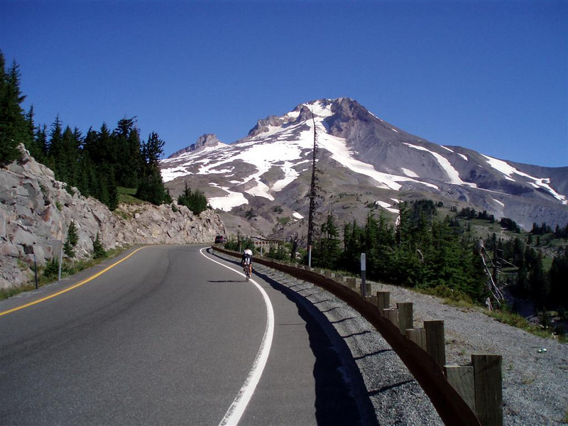 The summit of Mount Hood approaches