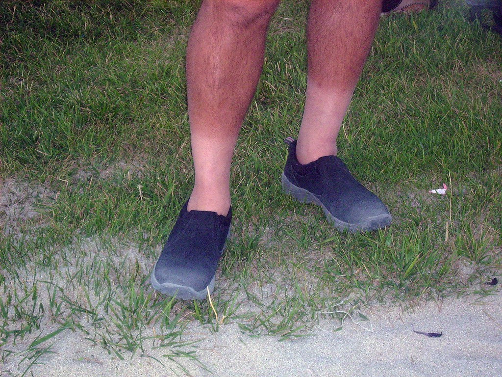 Lou's tan line.  (The opposing team asked for him to take off his 'white socks' as being too blinding)         :-)