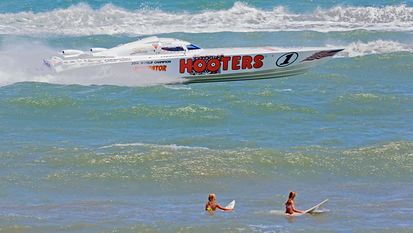 Hooters Racing Boat