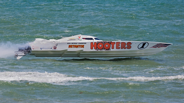 Hooters Racing Boat in Cocoa Beach, Florida
