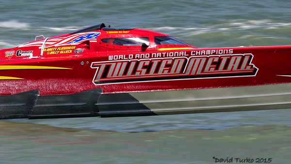 Twisted Metal Racing Boat in Cocoa Beach, Florida 2015