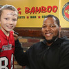 Ndamukong Suh with a fan at the Big Bamboo in Jinqiao. Photo credit: Andy Campbell - UTP Media