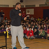Ndamukong Suh (DT, Detroit Lions) answers questions from SAS middle school students. Photo credit: Shanghai American School (SAS) - David Mention