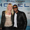 Sara Herbert-Galloway with Usher before he performed at Bud Light Hotel