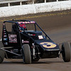 USAC  Silver Crown driver A.J. Fike blistering turn 4. Super Dirt Week 2015