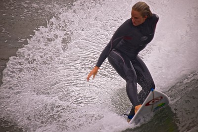 Bethany Hamilton making buckets of spray!