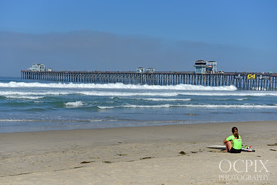 2019 Supergirlpro all woman surfing at the Oceanside Pier