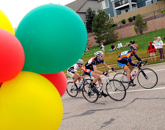 "The Pro Men racers speed around the course on Saturday, May 28, during the Summit Criterium Bike Race in Superior. For more photos of the festival go to  <a href=""http://www.dailycamera.com"">http://www.dailycamera.com</a><br /> Jeremy Papasso/ Camera"