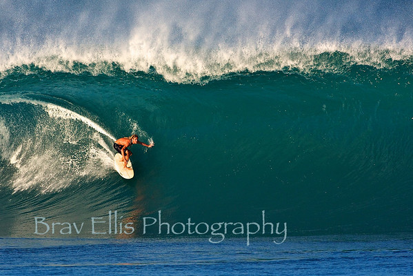 Pipeline - Unknown with dreads.  I do not know who he is but he was charging this day