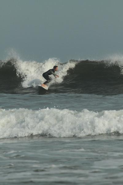Surfers at Higgins Beach 2013