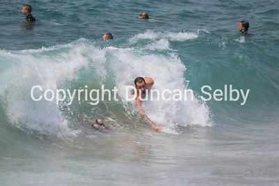 Bodysurfing  The Wedge, Newport Beach , California ; USA