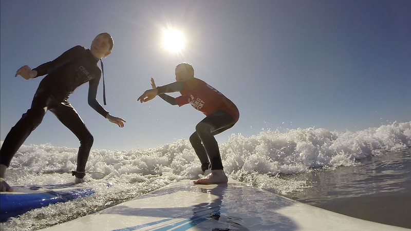 2016 02 12 Jaxon & Roen Surfing Hockey Players