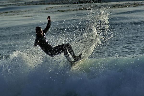 Surfing In Carmel, CA