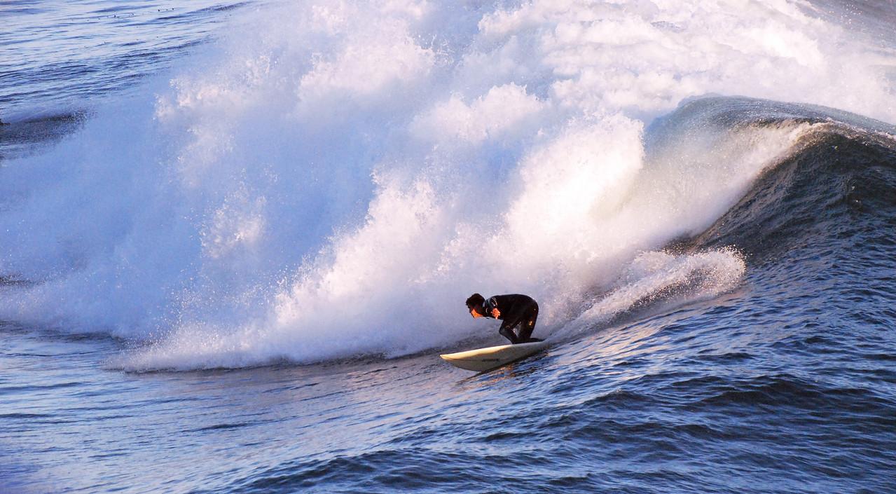 Surfing Steamer Lane, Santa Cruz, California