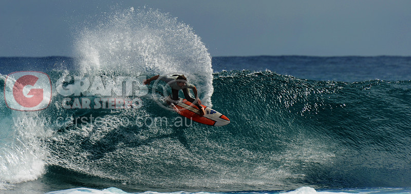 Surfing at Jakes Point, Kalbarri in Western Australia