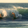 """I spent a few days at a friends house on the north Shore of Oahu. This break """"Banzai Pipeline"""" was right out the door.  These were the only two surfers out this morning."""