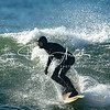 Surfing on October 6, 2018 at Gooches Beach in Kennebunk, Maine