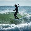 Surfing on November 2, 2019 at Gooch's Beach in Kennebunk, Maine